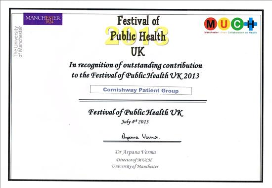 University of Manchester certificate